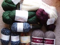 holiday yarn.. some of it.