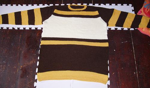 sweater of doom blocking