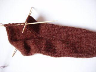 Brown boring sock