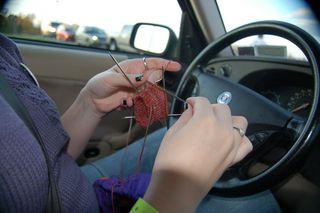 Knitting before traffic