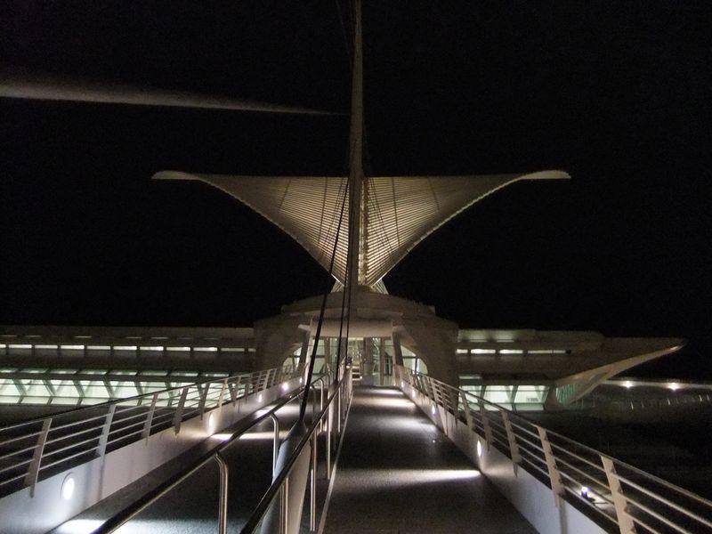Art museum at night